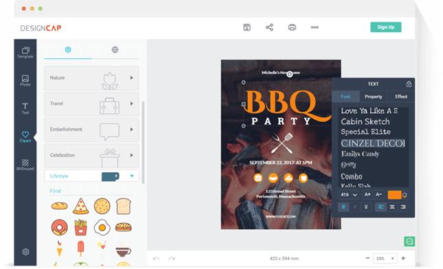 DesignCap Add items