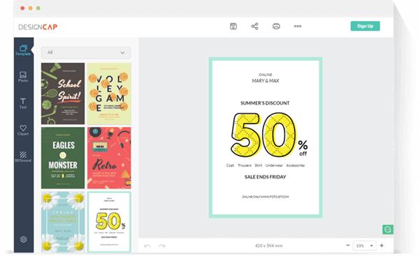 DesignCap Choose a template