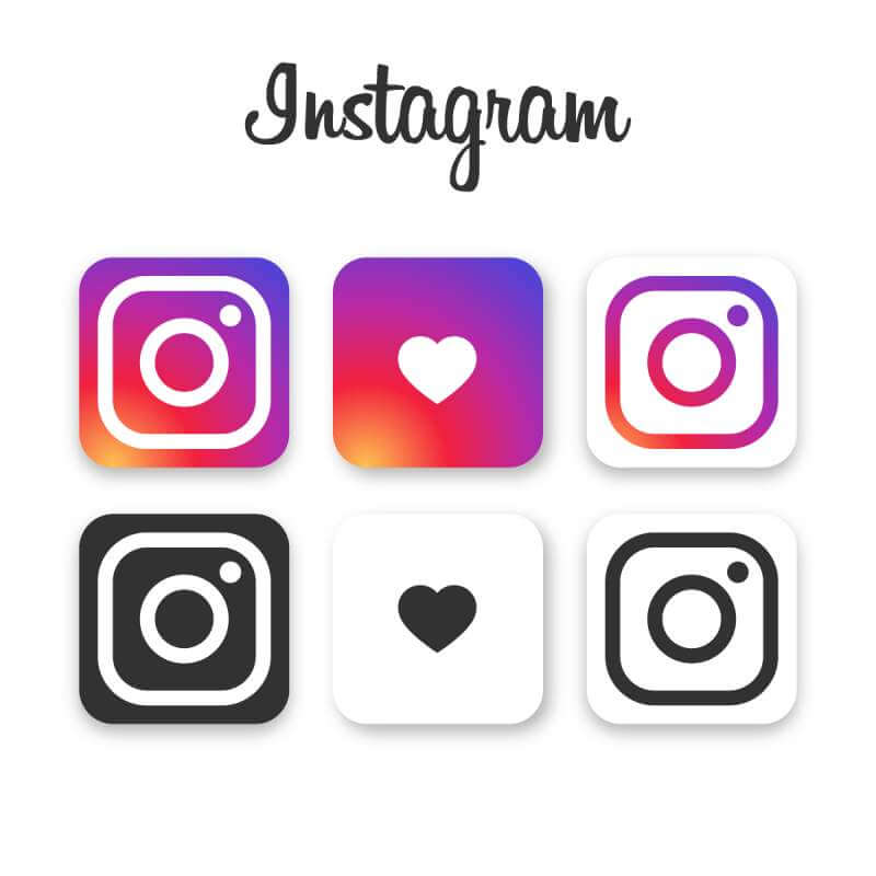 Instagram icon collection