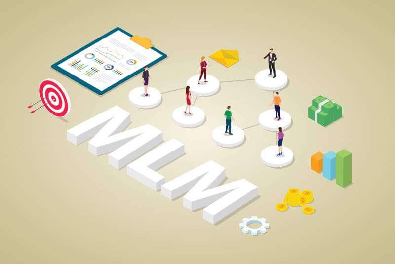 Multi-level marketing business concept
