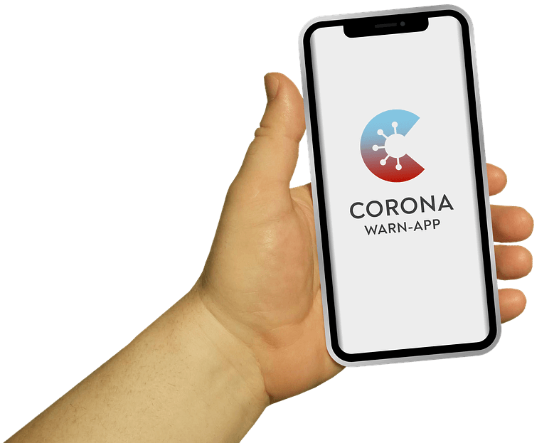 mobile-phone-corona-warning-app-hand