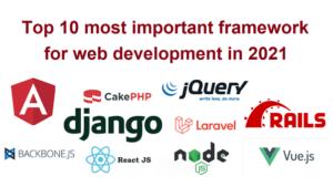 Top 5 frontend web development frameworks